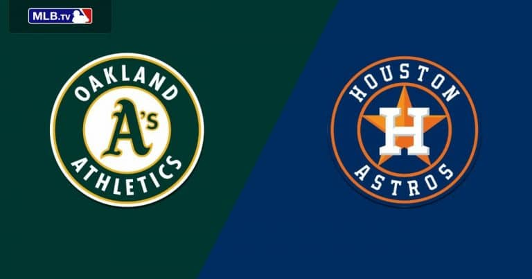 Astros vs Athletics 06/10/20